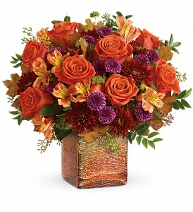 Teleflora's Golden Amber Bouquet in Royersford PA, Three Peas In A Pod Florist