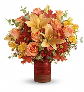 Teleflora's Harvest Crock Bouquet in Crawfordsville IN, Milligan's Flowers & Gifts