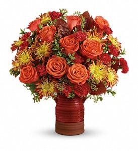 Teleflora's Heirloom Crock Bouquet in Royersford PA, Three Peas In A Pod Florist