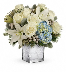 Teleflora's Silver Snow Bouquet in Rochester NY, Red Rose Florist & Gift Shop