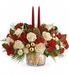 Teleflora's Winter Pines Centerpiece in Calgary AB, All Flowers and Gifts