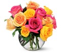 Multi-Colored Roses Local and Nationwide Guaranteed Delivery - GoFlorist.com