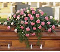 Heavenly Pink Casket Spray in Bakersfield CA White Oaks Florist