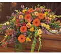 Summer Sentiments Casket Spray in Oklahoma City OK Capitol Hill Florist and Gifts