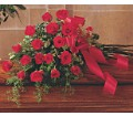 Red Rose Tribute Casket Spray in Canada AB Anicca Flowers