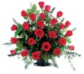 Blooming Red Roses Basket in San Francisco CA Fillmore Florist