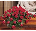 Blooming Red Roses Casket Spray in Orange CA Main Street Florist