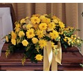 Brighter Blessings Casket Spray in Oklahoma City OK Array of Flowers & Gifts