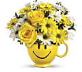 Teleflora's Be Happy Bouquet with Roses in Fairfield CT Glen Terrace Flowers and Gifts