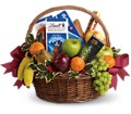 Fruits and Sweets Christmas Basket in New York NY Fellan Florists Floral Galleria