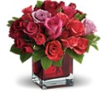 Madly in Love Bouquet with Red Roses by Teleflora in Reno NV Bumblebee Blooms Flower Boutique