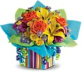 Teleflora's Rainbow Present in Houston TX Colony Florist