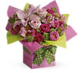 Teleflora's Pretty Pink Present in Orange CA Main Street Florist