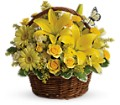 Basket Full of Wishes in Orange CA LaBelle Orange Blossom Florist