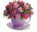 Teleflora's Cup of Roses Bouquet in Brook Park OH Petals of Love