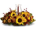 Sunflower Centerpiece in Pleasanton CA Bloomies On Main LLC