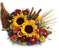 Classic Cornucopia in Bayonne NJ Blooms For You Floral Boutique