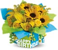 Teleflora's Sunny Birthday Present in Burley ID Mary Lou's Flower Cart