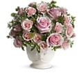 Teleflora's Parisian Pinks with Roses in Flint MI Curtis Flower Shop