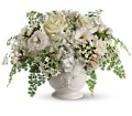 Teleflora's Napa Valley Centerpiece in East Quogue NY Roses And Rice