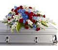 Distinguished Service Casket Spray in Boston MA Exotic Flowers