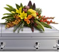 Island Memories Casket Spray in Bakersfield CA White Oaks Florist