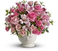 Teleflora's Pink Potpourri Bouquet with Roses in New York NY Fellan Florists Floral Galleria