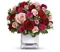 Teleflora's Love Medley Bouquet with Red Roses in Vancouver BC Davie Flowers