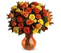 Teleflora's Fabulous Fall Roses in Homer NY Arnold's Florist & Greenhouses & Gifts