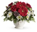 Teleflora's Simply Merry Centerpiece in Vancouver BC Davie Flowers