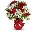 Red White And You Bouquet by Teleflora in Battle Creek MI Swonk's Flower Shop