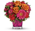 Teleflora's Turn Up The Pink Bouquet in Mount Morris MI June's Floral Company & Fruit Bouquets