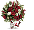 Send a Hug Christmas Cardinal by Teleflora in Sayville NY Sayville Flowers Inc
