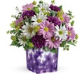 Teleflora's Dancing Violets Bouquet in Lebanon OH Aretz Designs Uniquely Yours