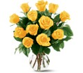 12 Yellow Roses in Metairie LA Villere's Florist