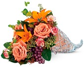 Teleflora's Waterford Crystal Cornucopia in Edmonds WA, Dusty's Floral