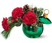 Teleflora's Merry Green Ornament Jar in Woodbridge ON, Thoughtful Gifts & Flowers