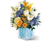 Teleflora's Baby Block (Boy) in Houston TX, Clear Lake Flowers & Gifts
