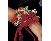 Red Spray Rose Wrist Corsage in Philadelphia PA, Penny's Flower Shop
