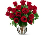 18 Red Roses in El Cerrito CA, Dream World Floral & Gifts