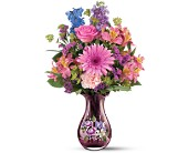 Teleflora's Fenton Art Glass Bouquet in Oklahoma City OK, Array of Flowers & Gifts