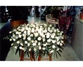 All White Carnations & Roses C in Brooklyn, New York, Enchanted Florist