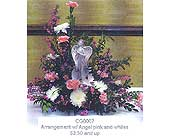 arrangement w/ angel pink and whites in Sioux Falls SD, Country Garden Flower-N-Gift