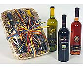 A Basket of Three Wines in Perrysburg & Toledo OH - Ann Arbor MI OH, Ken's Flower Shops