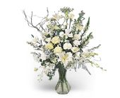 Rhapsody in White in Merced CA, A Blooming Affair Floral & Gifts