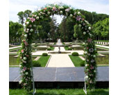 Floral Arch in Bayside, New York, Bell Bay Florist