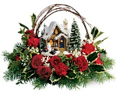 Thomas Kinkade's Cozy Christmas in Willow Park TX, A Wild Orchid Florist
