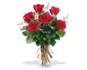 6 Red Roses in Charlotte NC, Starclaire House Of Flowers Florist