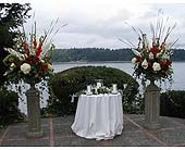 Wedding Ceremony in Tacoma WA, Blitz & Co Florist