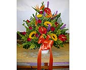 Tropical Sympathy Basket in Brooklyn, New York, Parkway Flower Shop